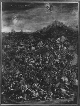 Historienzyklus: Die Niederlage der Römer durch die Karthager in der Schlacht bei Cannae