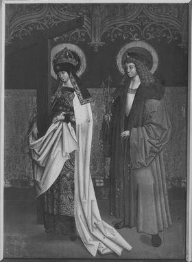 Flügel eines Kreuzaltares, Außenseite: Die hll. Helena und Sebastian
