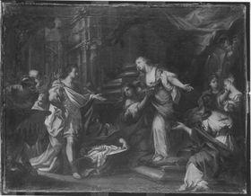 Cleopatra übergibt Augustus Krone uund Szepter