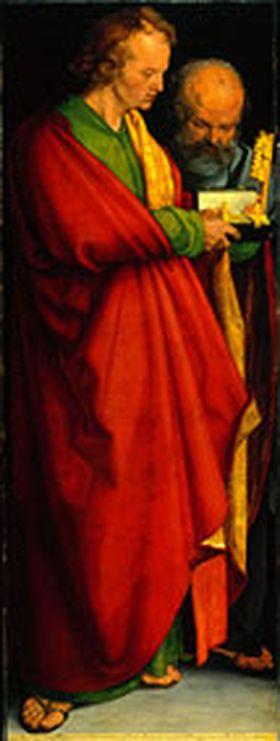 Vier Apostel: Hll. Johannes Ev. und Petrus