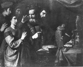 Die hl. Katharina soll zum Götzendienst zurückkehren