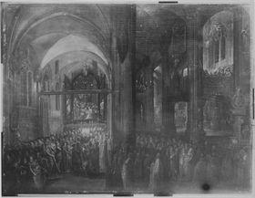 Konzert in einer nächtlichen Kirche