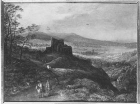 Landschaft mit Schloss
