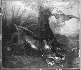 Fuchs mit Beute