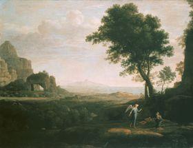 Hagar und Ismael in der Wüste