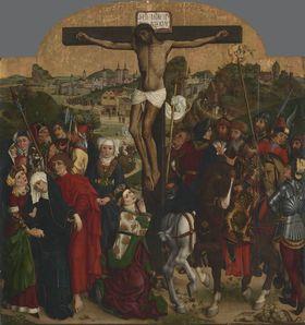 Kreuzigung Christi (Rückseite: Hl. Anna Selbdritt)