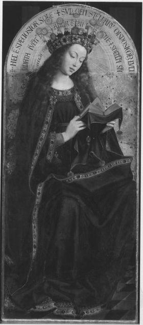 Maria als Himmelskönigin (nach Jan van Eycks Genter Altar)