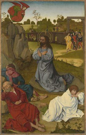 Hofer Altar: Christus am Ölberg (Rückseite: Erzengel Michael mit dem Drachen)