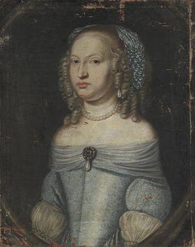 Bildnis der Landgräfin Luise Christine von Hessen-Darmstadt, Tochter des Landgrafen Georg II. (1636-1697)