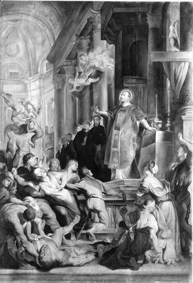 Hl. Ignatius heilt eine Besessene