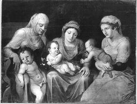 Drei Frauen mit ihren Kindern