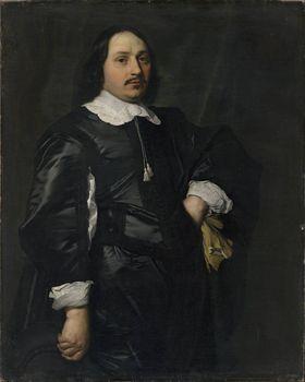 Bildnis eines Herrn in schwarzem Atlaswams