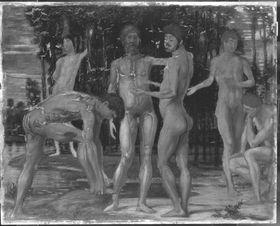Sechs nackte Männer