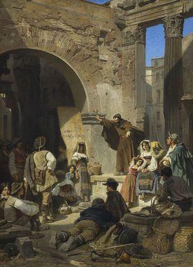 Kapuzinerpredigt im Porticus Octaviae in Rom