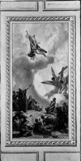 Entwürfe für die Decke der Dreifaltigkeitskirche in Kaufbeuren: Die Himmelfahrt
