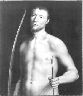 Bildnis eines jungen Mannes als hl. Sebastian (?)