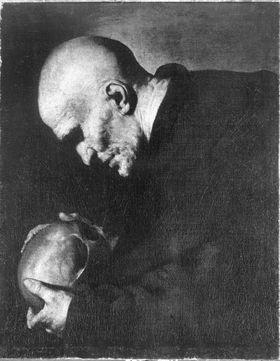 Hl. Petrus von Alcantara in Meditation
