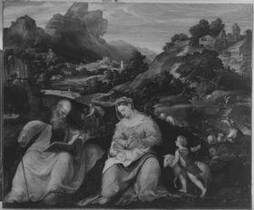 Madonna mit Kind, dem Johannesknaben und dem hl. Antonius Abbas