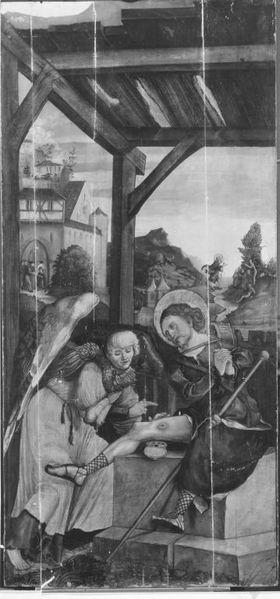 Szene aus der Legende des hl. Rochus