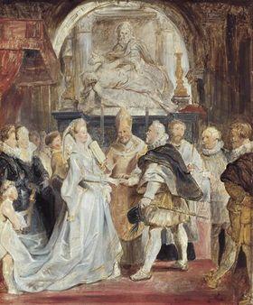 """Die Vermählung """"in procuratione"""" (Skizze zum Medici-Zyklus)"""