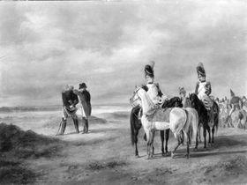 Napoleon auf einer Rekognoszierung