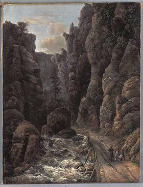 Schlucht in der Sächsischen Schweiz