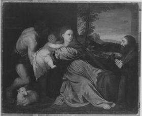 Maria mit Kind, Johannes dem Täufer und einem Stifter