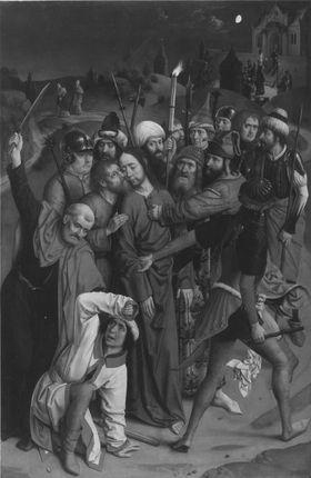 Tafel eines Flügelaltares: Gefangennahme Christi