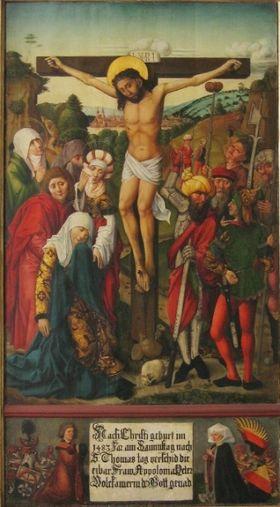 Epitaph der Apollonia Volckamer mit Kreuzigung Christi