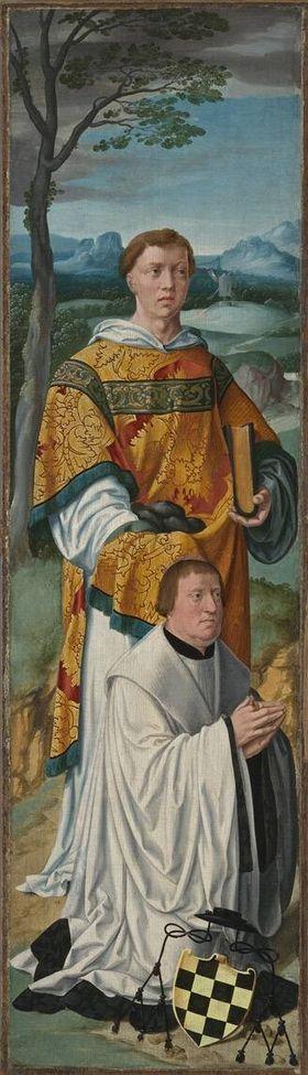 Beweinungsaltar: Hl. Stephanus mit dem Stifter Stephan Vell von Wevelinghoven