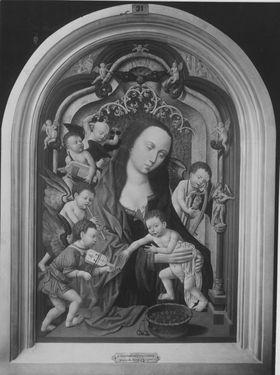 Maria mit Kind und musizierenden Engeln