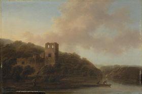 Ruine am Ufer eines Flusses