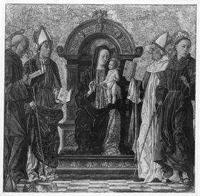 Maria mit Kind und vier Heiligen