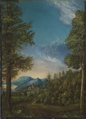 Donaulandschaft mit Schloss Wörth
