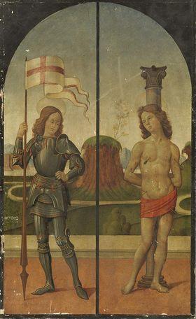 Die hll. Theodor (Georg?) und Sebastian