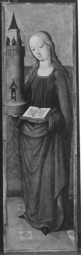 Altarflügel: Hl. Barbara
