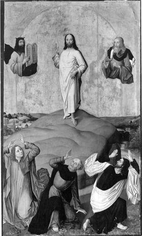 Verklärung Christi Rückseite: Fragment eines segnenden Christus [?] und Teile einer Menschengruppe