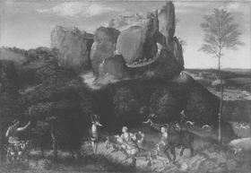 Landschaft mit dem hl. Hubertus