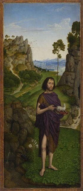 Perle von Brabant: Johannes d. T. in einer Landschaft Außenseite: Hl. Katharina