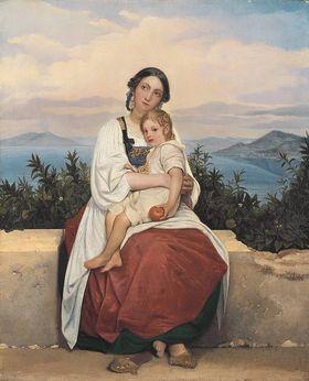 Procidanerin mit ihrem Kind
