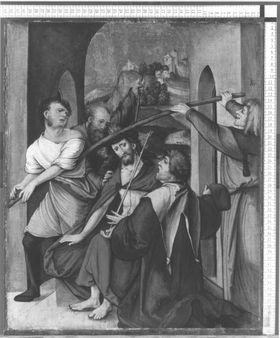 Tafel eines Passionszyklus: Dornenkrönung Christi