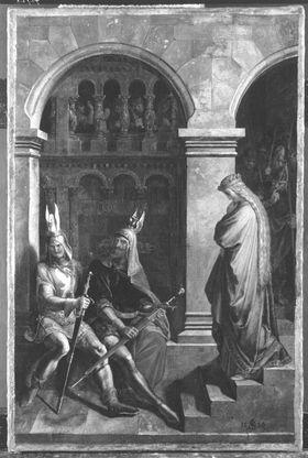 Hagen verweigert Kriemhild den Gruß