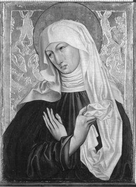 Maria als Schmerzensmutter (Rückseite: Johannes Ev.)