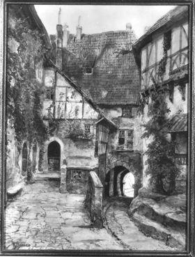 Alte Häuser in Rothenburg