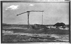 Alter Ziehbrunnen in der Puszta