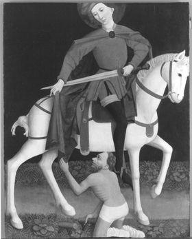 Der hl. Martin und der Bettler (Abgespaltene Innenseite: Inv.-Nr. 10747)