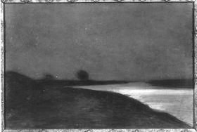 Die Theiß im Mondlicht