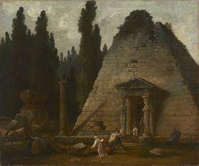 Die Pyramide im Park von Mauperthuis