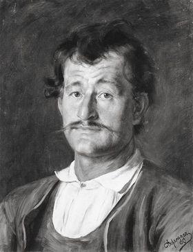 Brustbild eines Tiroler Bauern