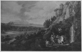 Landschaft mit Göttermahl
